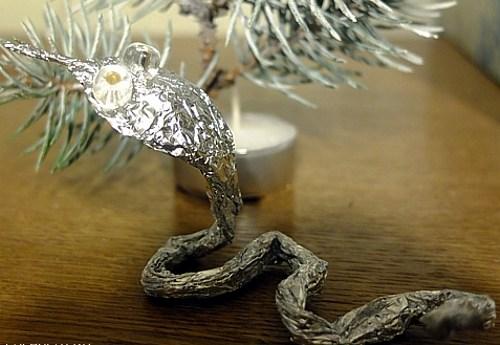 Поделки из фольги змея